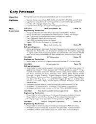 Resume Sample For Electronics Engineer Resume For Study