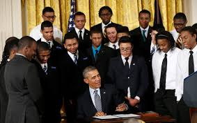 essay the eloquence of common purpose wuwm u s president barack obama signs an executive memorandum following remarks on the my brother s keeper initiative