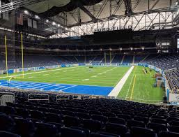 Ford Field Lions Seating Chart Ford Field Section 140 Seat Views Seatgeek