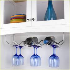 undercabinet wine glass holders wine glass racks ideas 8