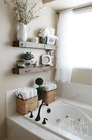 bathroom decor. Perfect Bathroom 12 Earth Tone Repurposed Wood Shelves In Bathroom Decor 1