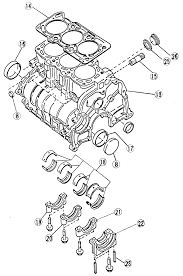 6 cylinder block assembly 1 2l engine