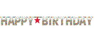 Rainbow Giant Letter Birthday Banner