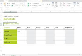 Free Excel Templates For Making Group Schedules