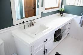 modern bathroom countertops how to paint tile countertops and our modern bathroom reveal