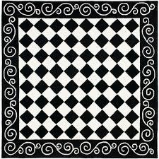 safavieh chelsea black ivory 6 ft x 6 ft square area rug