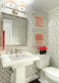 powder room bathroom lighting ideas. Wallpaper Photo Frame Design Powder Room Transitional With Bathroom Lighting Dark Floors Gray Walls Ideas