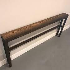 diy sofa table behind sofa table