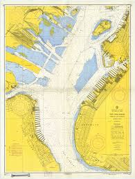 Chart Of New York Harbor This Is A Chart Of The Upper Harbor Of New York City Where