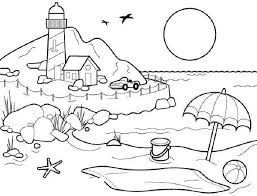 Small Picture coloring pages for adults Beach Scene Coloring Activity AdultCP