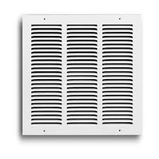 8 in x 8 in white return air grille