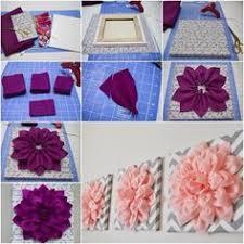 diy fabric flower wall art