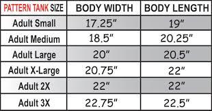 Monogram Size Chart Monogram Soccer Tank