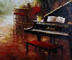 piano painting art