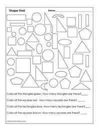 Small Picture Downloadable Geometry Worksheets for 1st Graders Geometry