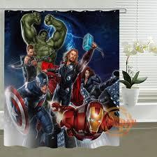 custom shower curtain the avengers captain america thor all heros waterproof bathroom curtains