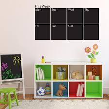 wall decal for office. Weekly Chalk Calender Wall Decal For Office O