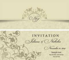 Editable Wedding Invitations Free Vector Download 3 989