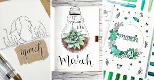 art cover page ideas bullet journal march cover pages youll want to steal