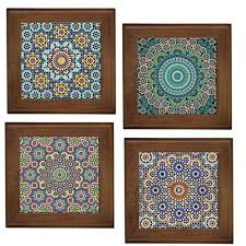 Decorative Tiles To Hang MOROCCAN PATTERNS HOME DECORATIVE CERAMIC FRAMED TILEWALL ART 7