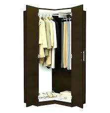 wish new portable clothes closet wardrobe double rod storage organizer