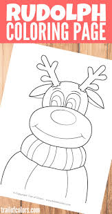 Small Picture Rudolph the Reindeer Coloring Page Trail Of Colors