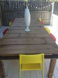 diy pallet outdoor dinning table. Diy Outdoor Dining Table From Wood Pallets, Diy, Furniture, Painted Pallet Dinning I