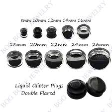 ear gauging chart actual size ear gauges size chart actual size images
