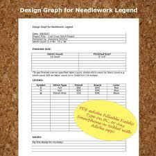 Cross Stitch Graph Paper Needlework Grid Template Pdf Instant Etsy