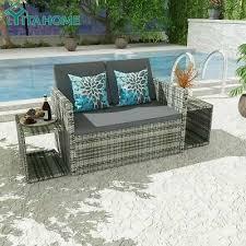 yitahome 4x patio rattan wicker sofa