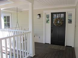 farmhouse style front doorsDoor casing styles porch farmhouse with wood deck white casing