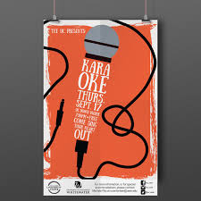 Uc With Graphic Design These Are A Series Of Karaoke Posters Promoting The