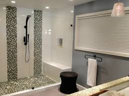 White Vanity Sink Wooden Cabinet Walk In Shower For Small Bathroom ...