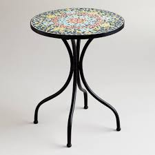 small round mosaic accent tables