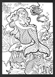 Printable Mermaid Coloring Pages For Adults Sirens Of The Sea