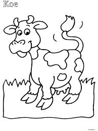 Kleurplaat Peuter Kleurplaat Koe Kleurplatennl Art Of Being Cow