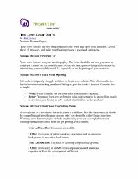 Monster Cover Letters Elegant Cover Letter Samples Monster Job