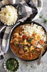 slow cooker en sausage and shrimp