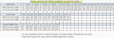 Converse Chucks Size Chart Converse Chuck Taylor All Star