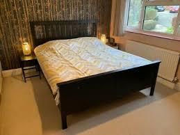 ikea hemnes bed frame black brown