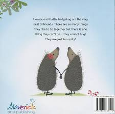 hedgehugs children s story book back cover with horace hattie holding hands