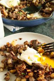 A deliciously satisfying breakfast and great way to use up leftover prime rib. Breakfast Hash Recipe Prime Rib Leftovers West Via Midwest