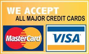Image result for we accept credit cards sign