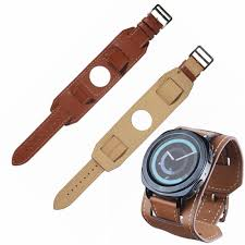 22mm 20mm genuine leather watch band cuff strap bracelet for samsung gear s3 gear s2 huawei watch 2 huami amazfit watchband quality watch straps high
