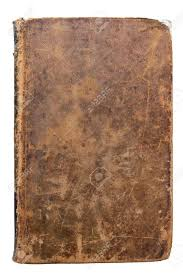 stock photo worn leather book cover