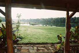 looking out front door. Marion, IL: Looking Out From The Front Door Of Cabin. O
