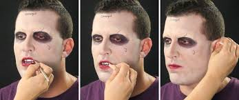 13 joker use maroon makeup on
