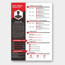 Simple Elegant Resume Red Cv Template Template For Free Download On