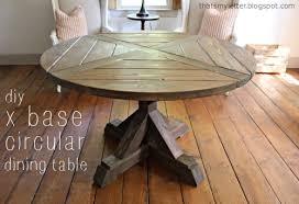 build diy x base circular dining table