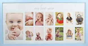 Details About Babys First Year Frame In Elegant Blue Natural Wood My First Year Baby Boy